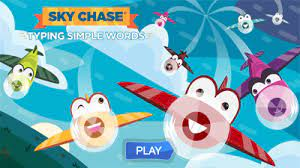 Play Sky Chase Typing Words Game