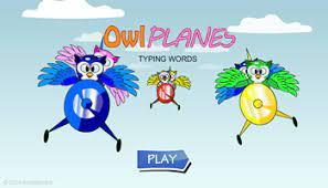 Play Owl Planes Typing Words Game