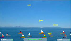 Play Save the Sailboat Race Typing Game