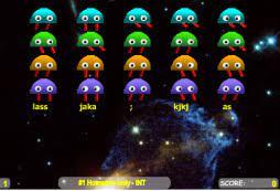Play Spacebar Invaders Typing Game